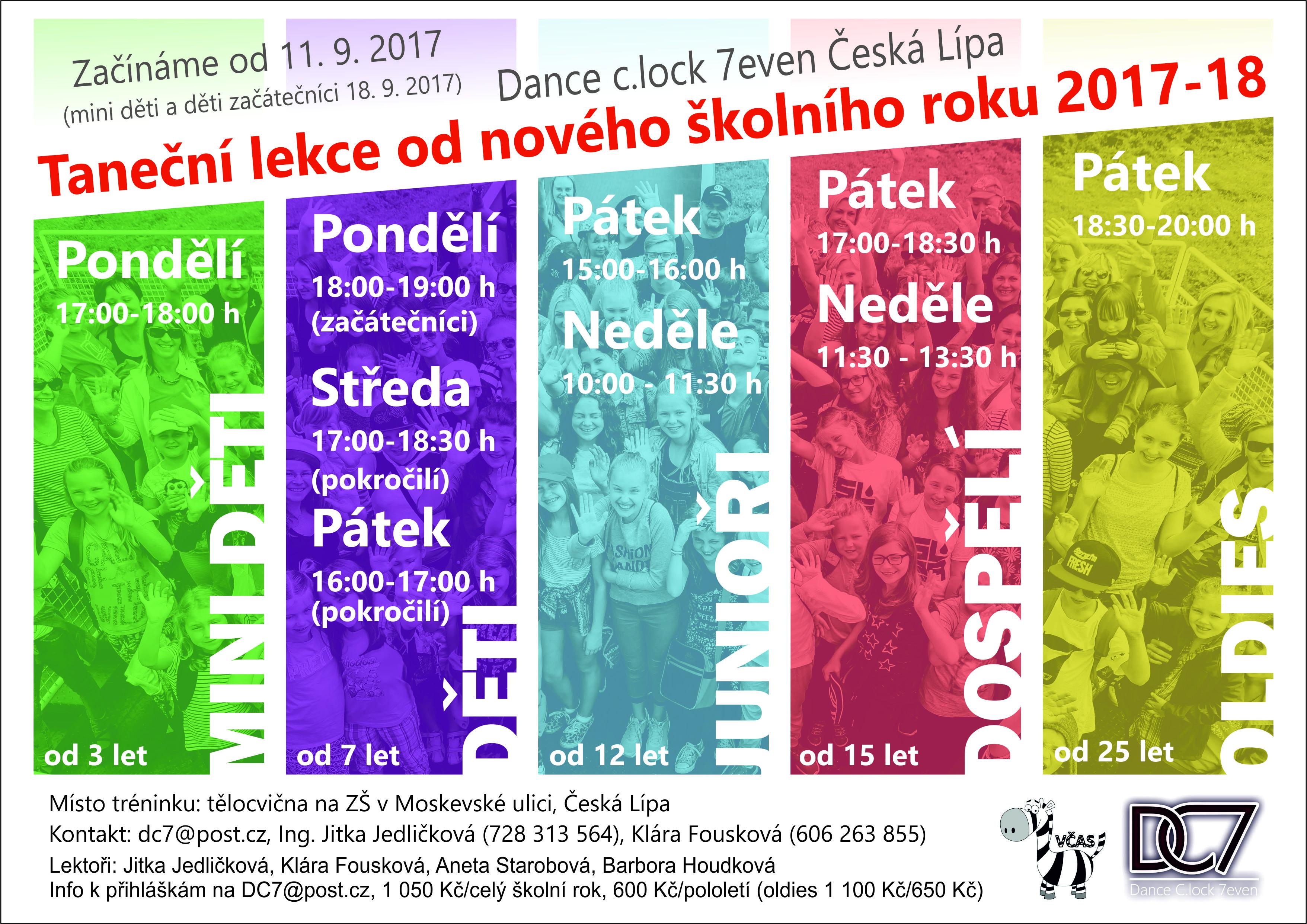 Rozvrh tanečních lekcí