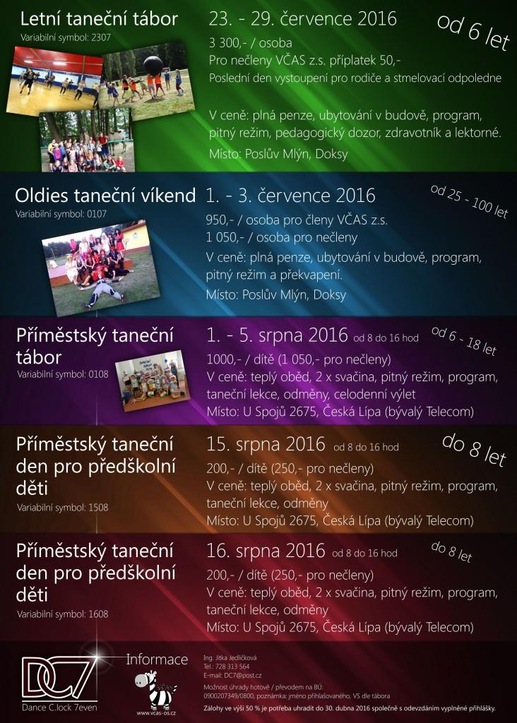 Letní taneční tábory 2016